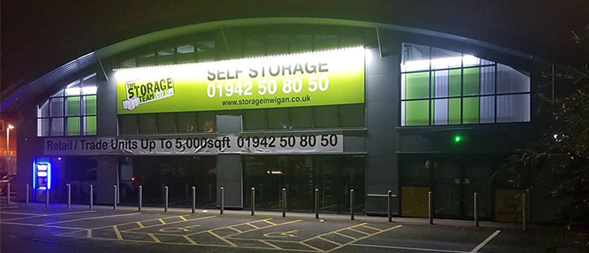 Self storage facility in Wigan